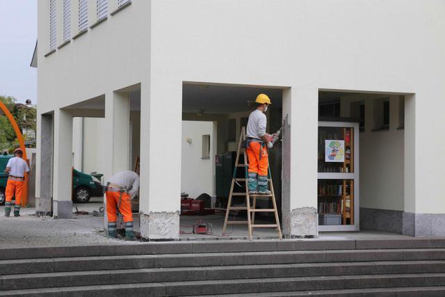 Umbauarbeiten für besseren Erdbebenschutz am Schulhaus Merlischachen